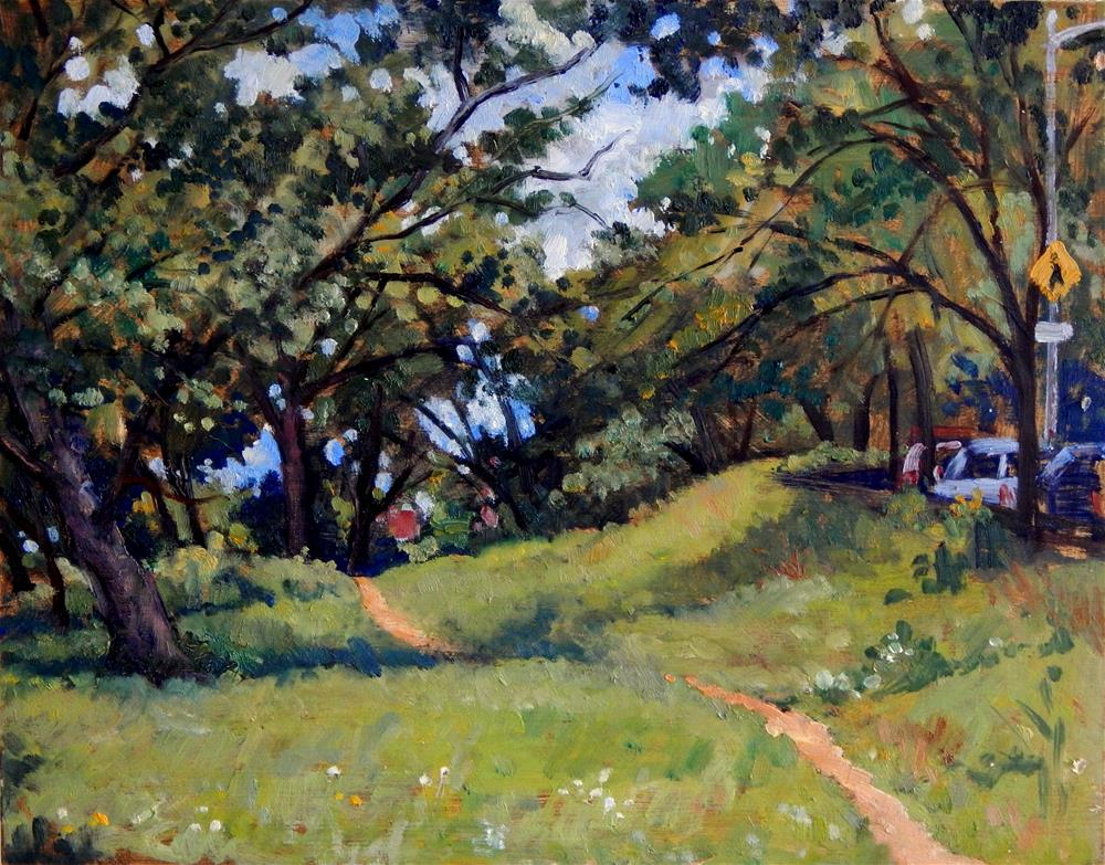 """Footpath, Isham Park, NYC"" original fine art by Thor Wickstrom"