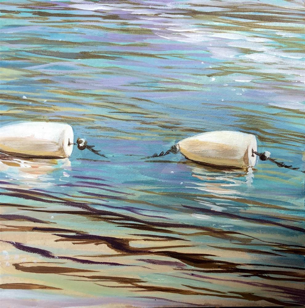 """Buoys Will be Buoys"" original fine art by Lauren Kuhn"