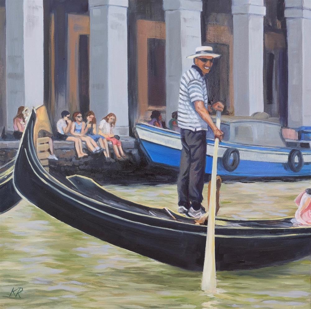"""""""The Gondolier"""" original fine art by Karissa Rumsey"""