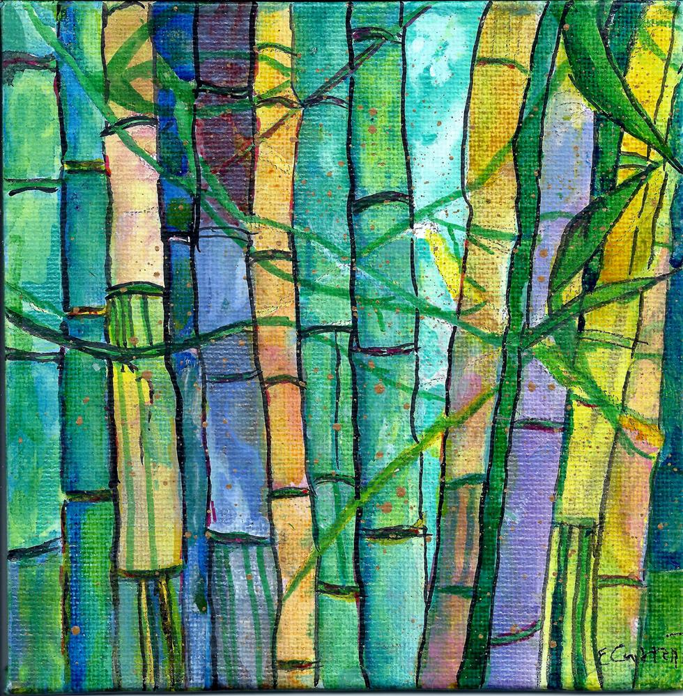 """Bamboo expressions"" original fine art by Elizabeth Current"