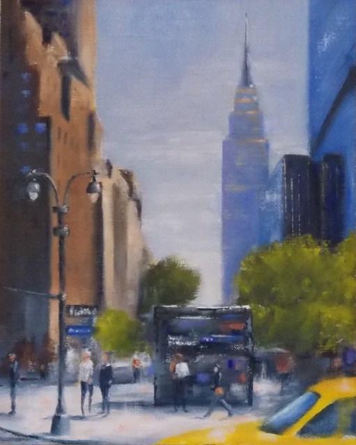 """East on 34th"" original fine art by Ruth-Ann Carlock"