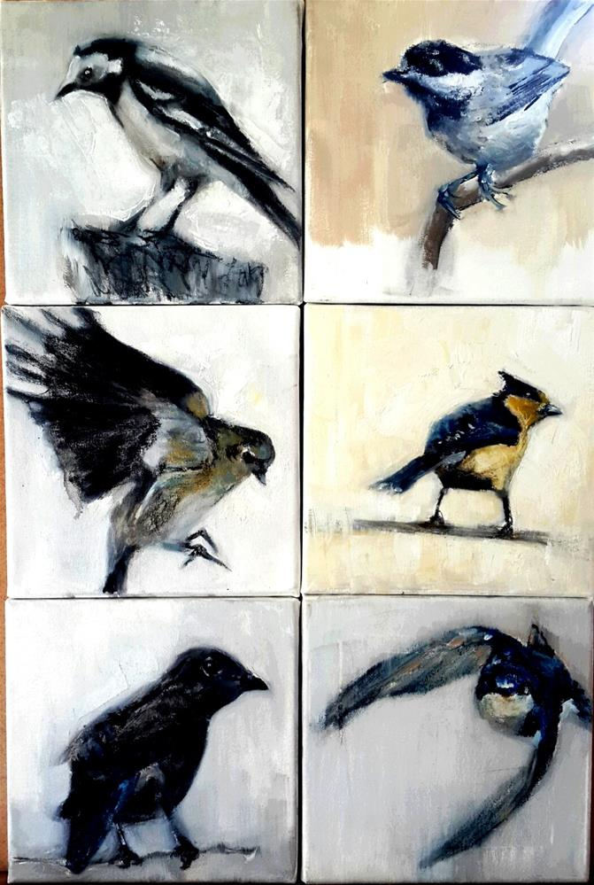 """My birdie collection"" original fine art by Rentia Coetzee"