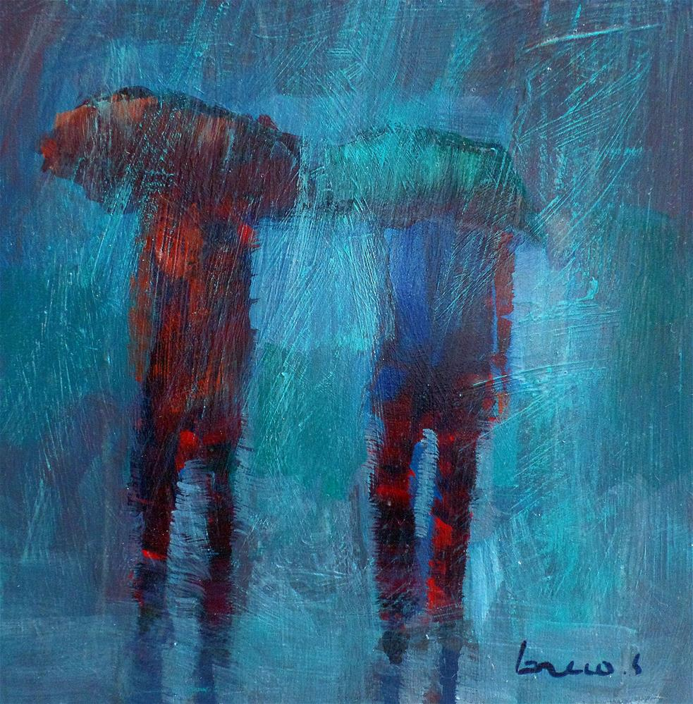 """a downpour"" original fine art by salvatore greco"