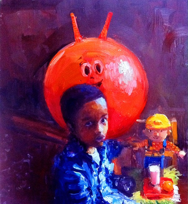 """Kids, Life, Art and Stuff 14"" original fine art by Adebanji Alade"