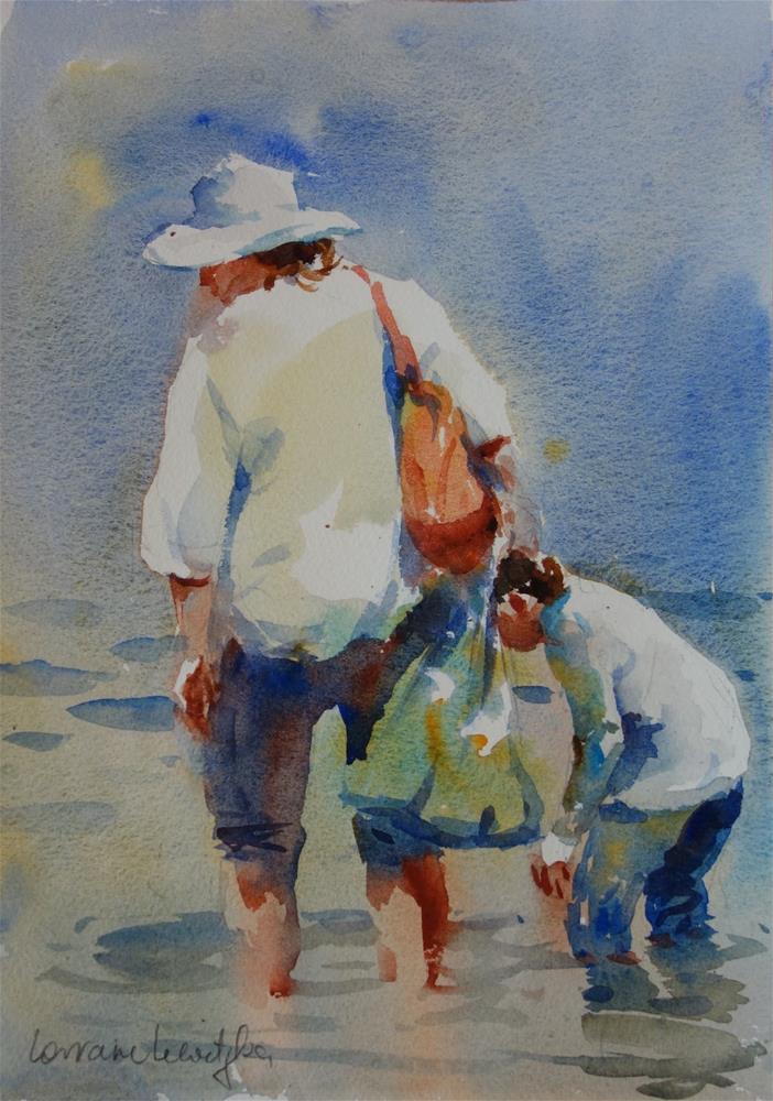 """""""Little fish"""" original fine art by Lorraine Lewitzka"""