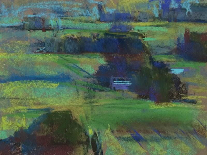 """Hood River Blues and Greens"" original fine art by Patti McNutt"