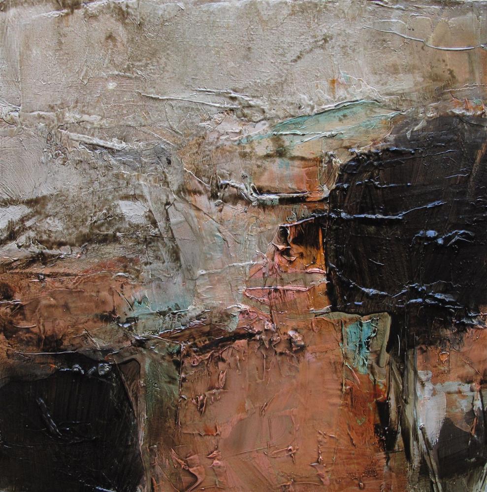 """""""POP CULTURE Original Abstract 4X4 Painting OIL"""" original fine art by Colette Davis"""