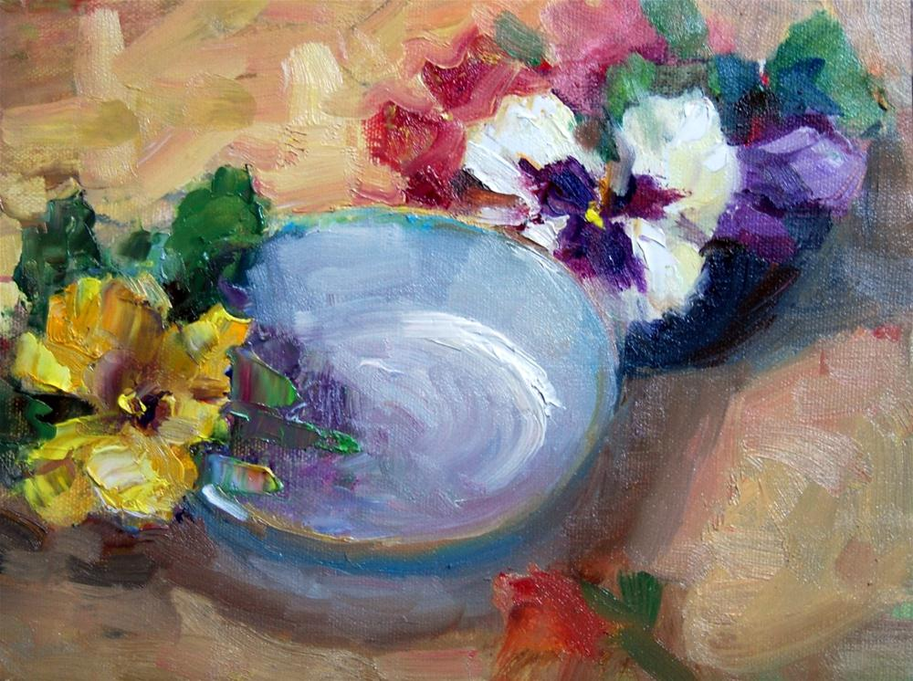 """Pansy Time"" original fine art by Julie Ford Oliver"