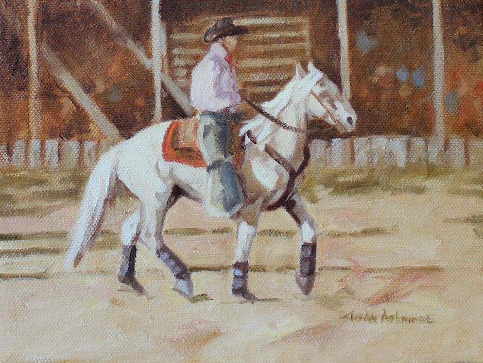 """Lightfoot"" original fine art by Susan Ashmore"