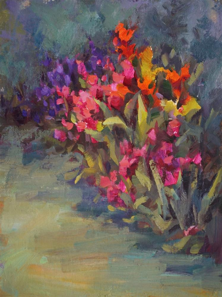 """Garden's Edge"" original fine art by Carol Myer"