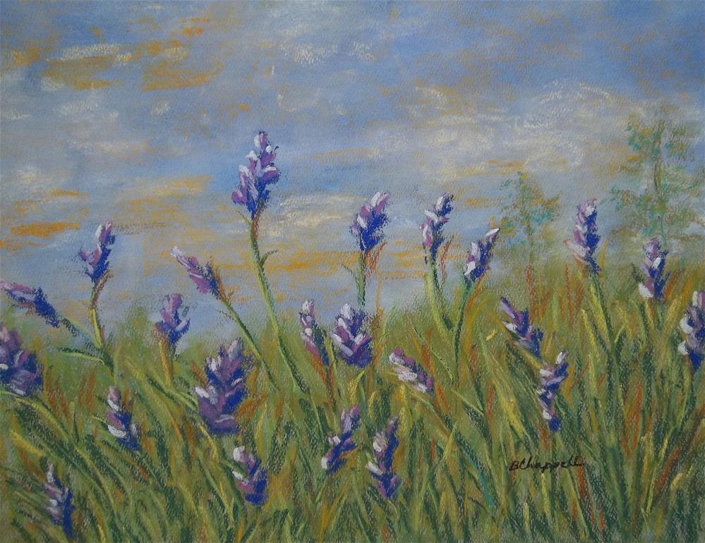 """Rita's Lavender"" original fine art by Becky Chappell"