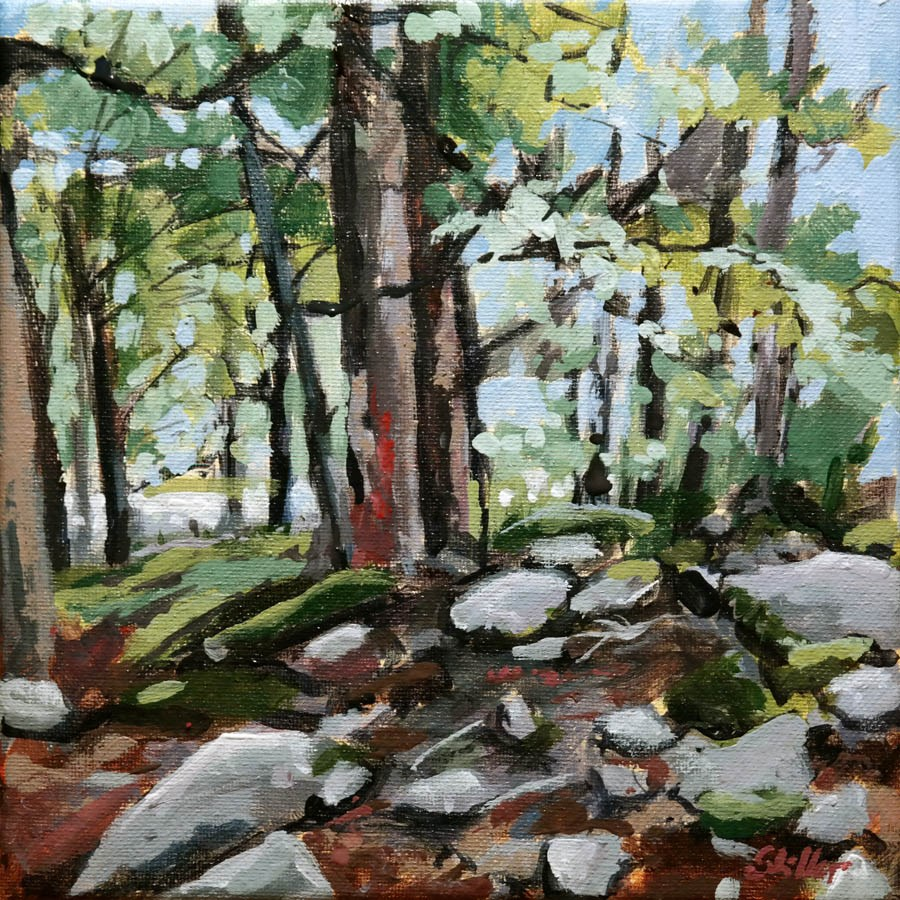 """1758 Forest Painting"" original fine art by Dietmar Stiller"