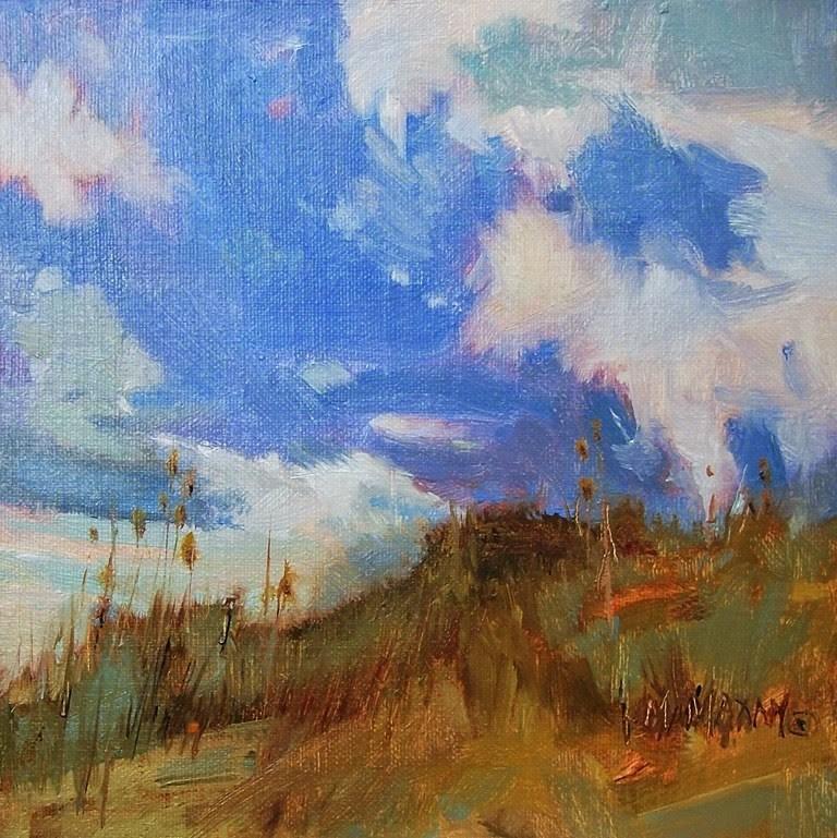 """Desert & Sky"" original fine art by Mary Maxam"