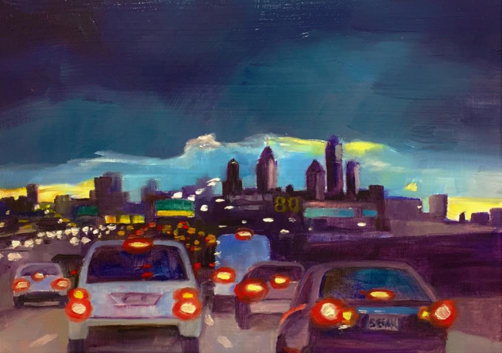 """I-95"" original fine art by Sharon Egan"