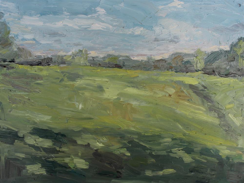 """""""Green Field"""" original fine art by Allison Doke"""