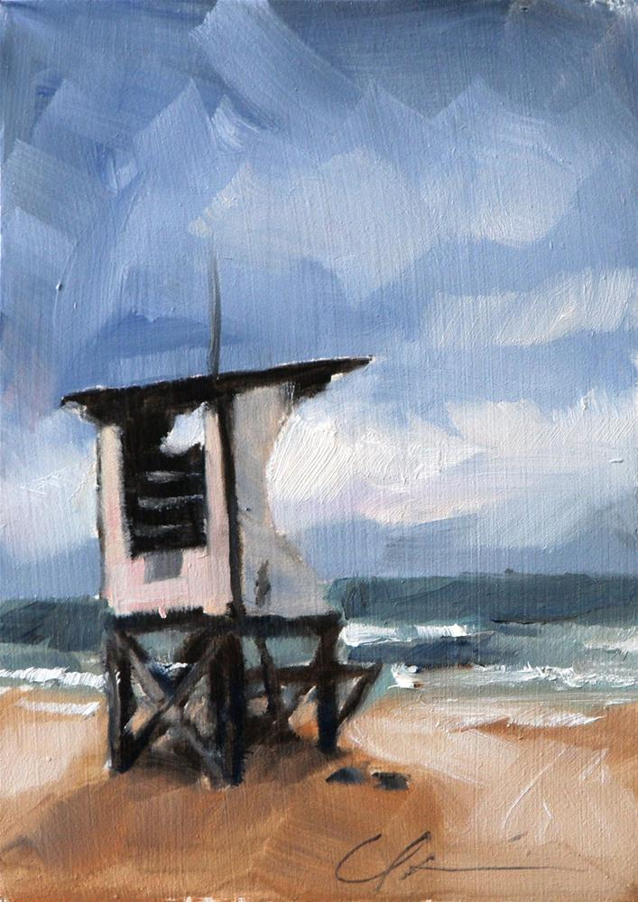 """Wrightsville Beach"" original fine art by Clair Hartmann"