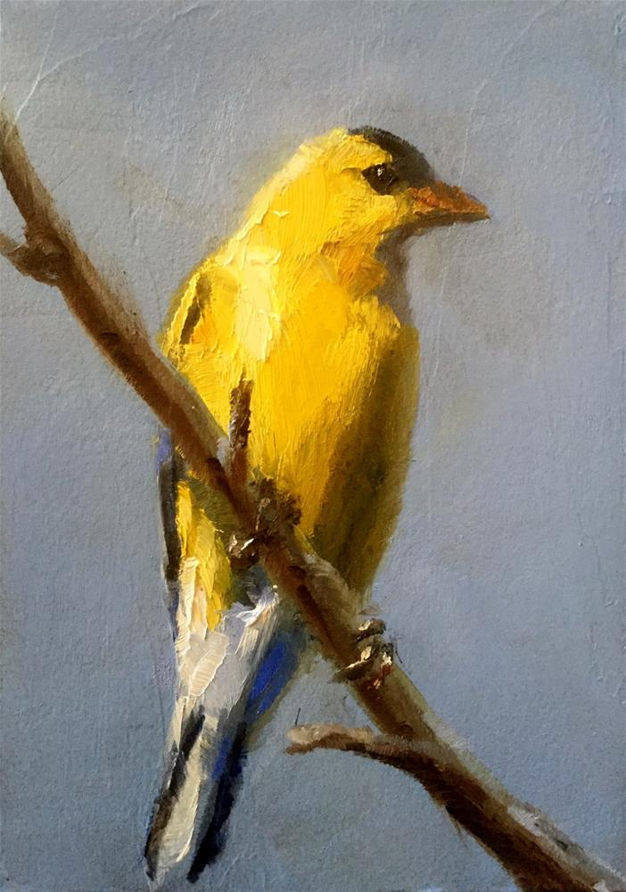 """Blue and Yellow"" original fine art by Gary Bruton"