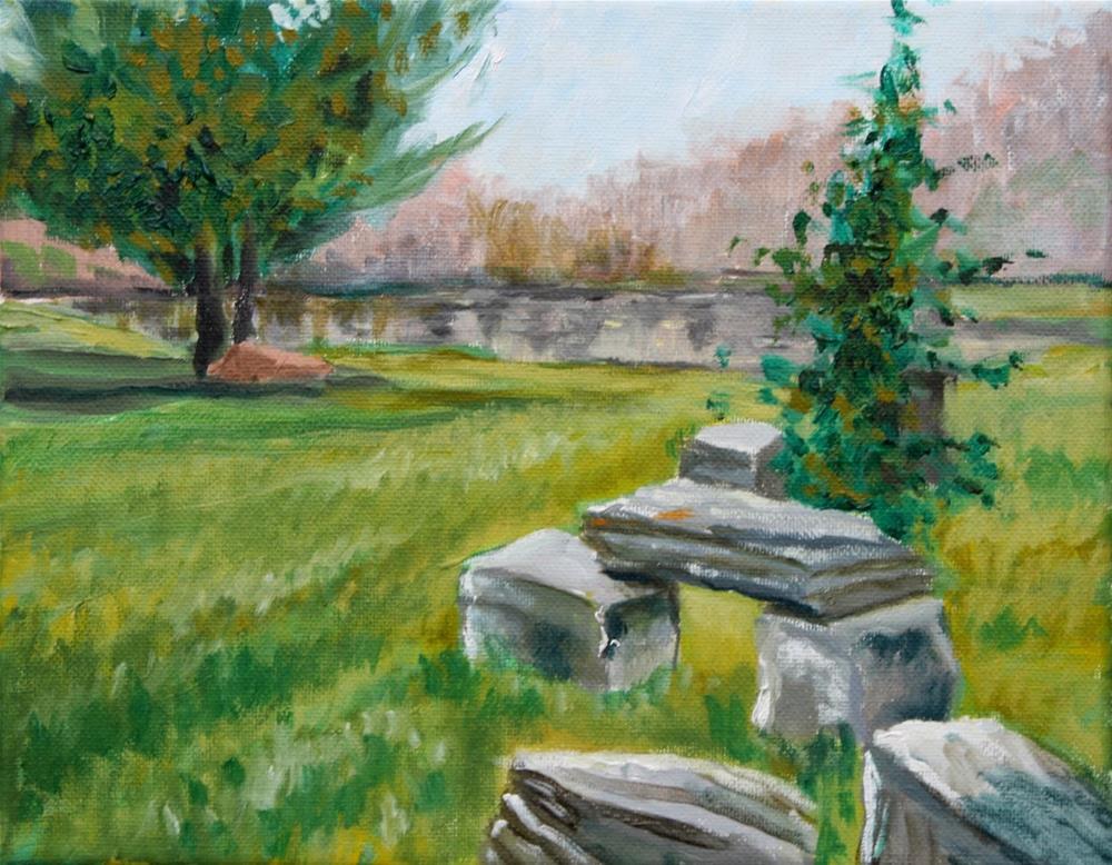 """""""Stonehedge Gardens"""" original fine art by Hilary J. England"""