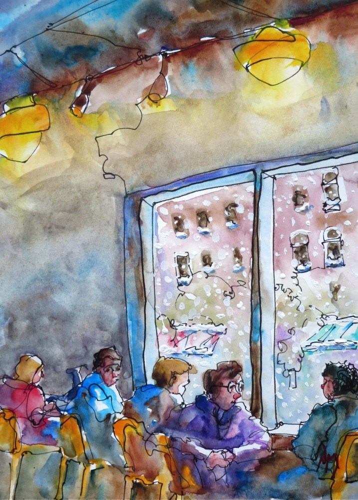 """warm cookies"" original fine art by Nora MacPhail"