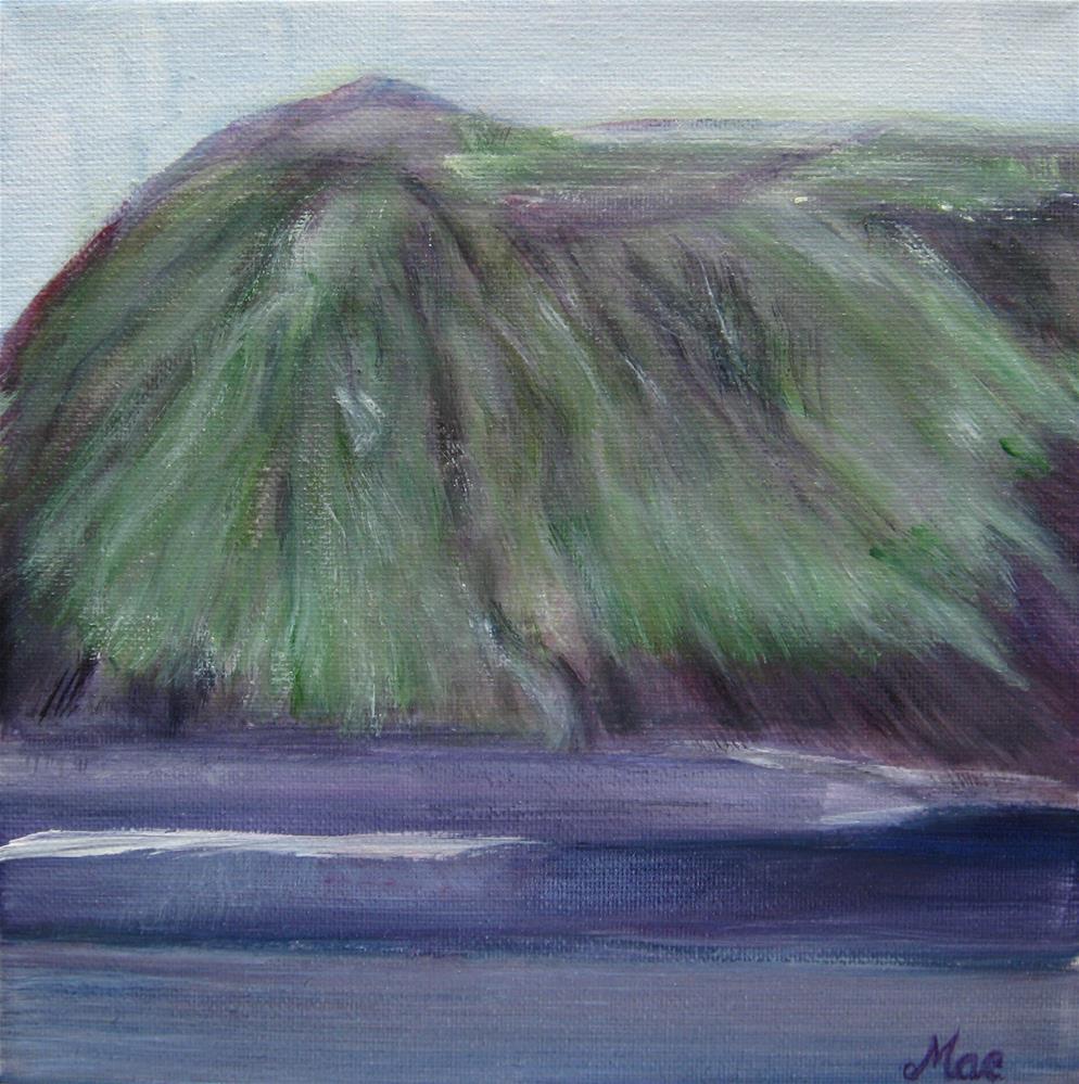"""Green Mountain"" original fine art by Alina Frent"