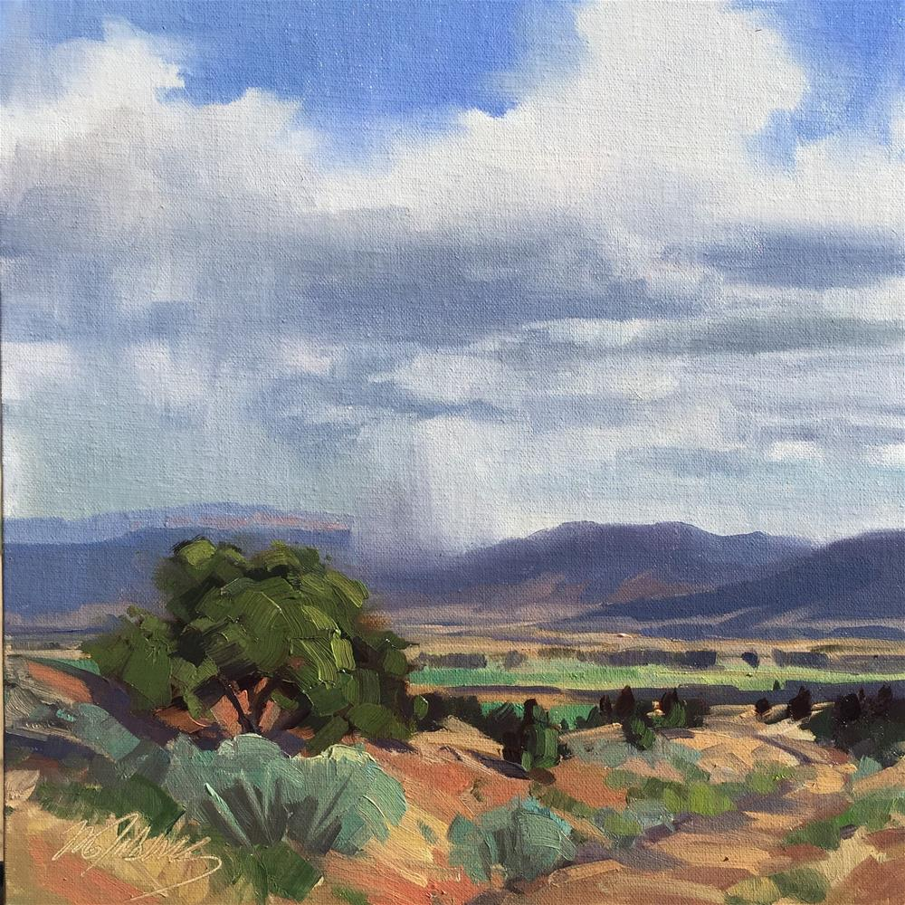 """""""Storms Across the Valley"""" original fine art by Mary Jabens"""