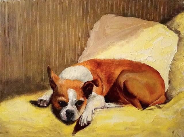 """Yellow Study"" original fine art by Karen Robinson"