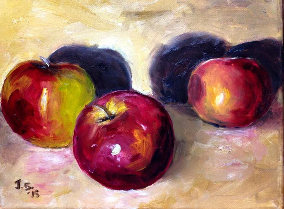"""Left-Handed Apples"" original fine art by Juli Schuster"