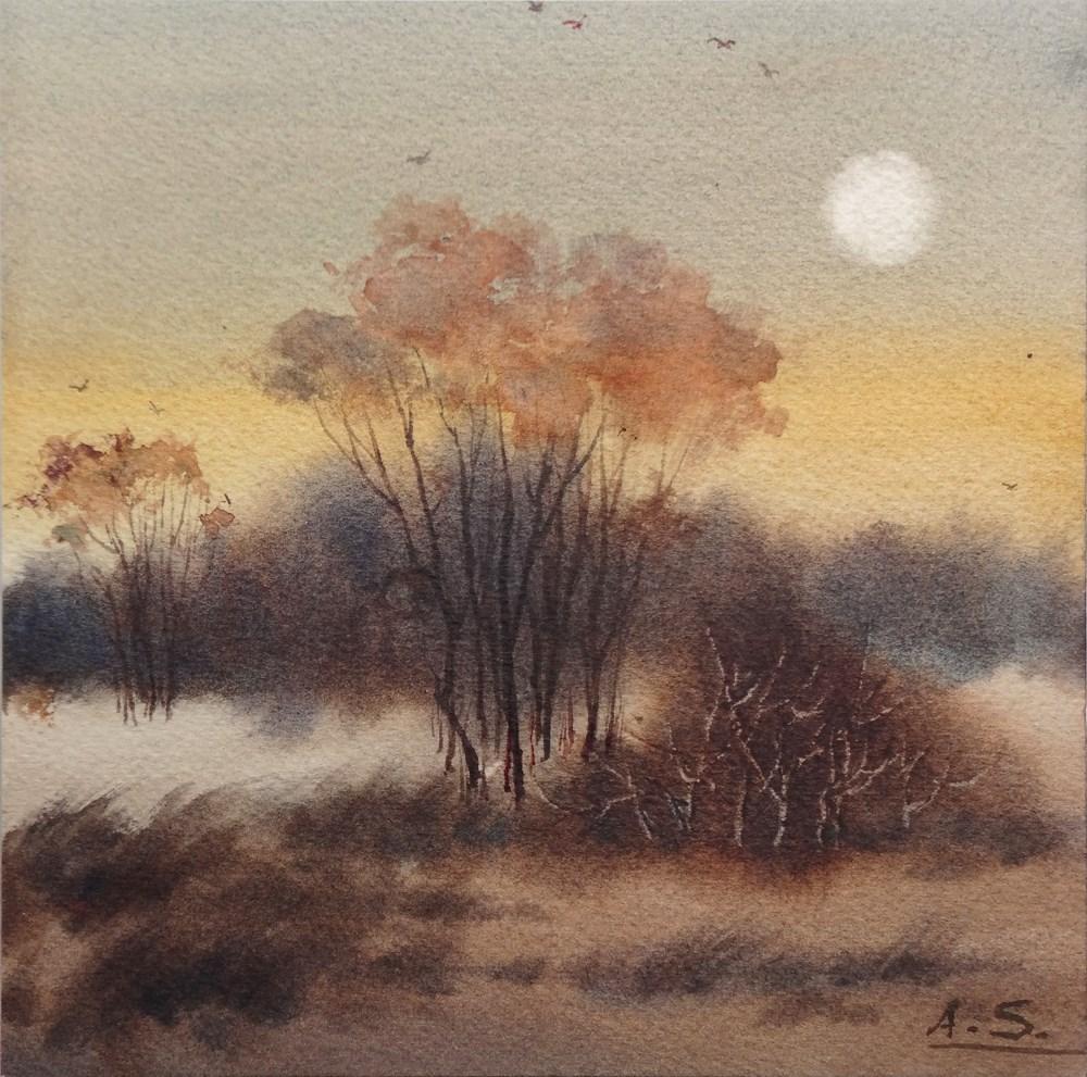 """""""Savannah Moon"""" original fine art by Arena Shawn"""