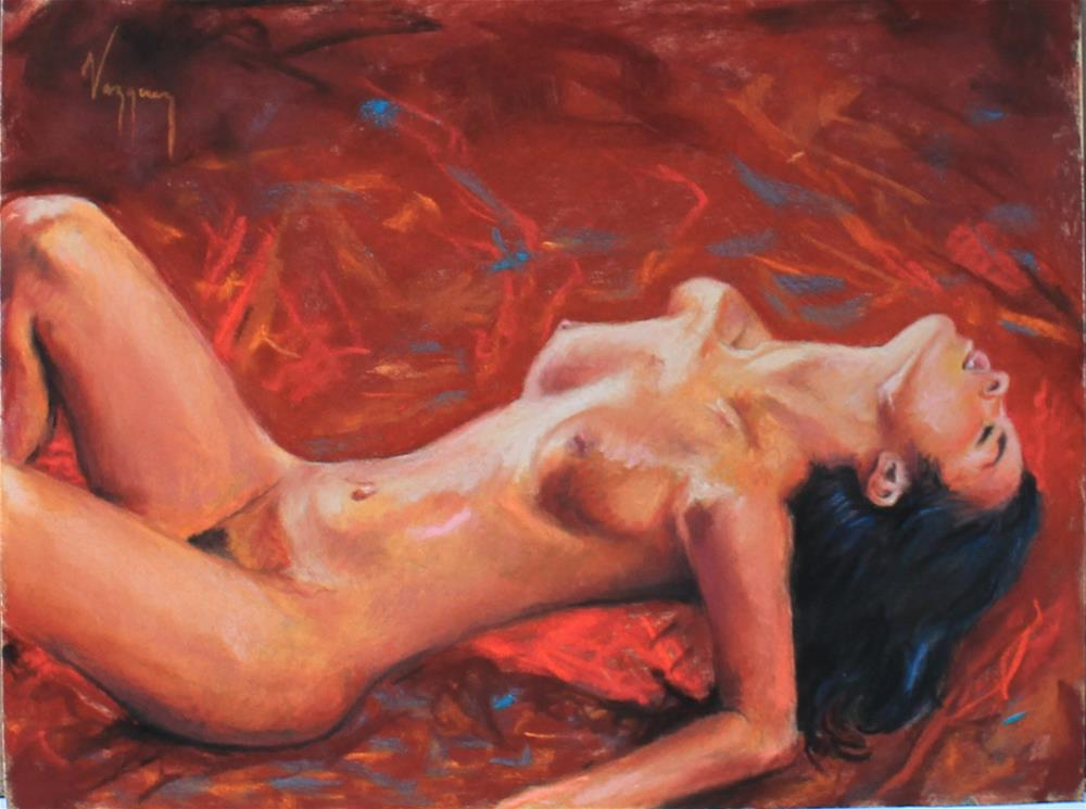 """Pastel nude red carpet"" original fine art by Marco Vazquez"
