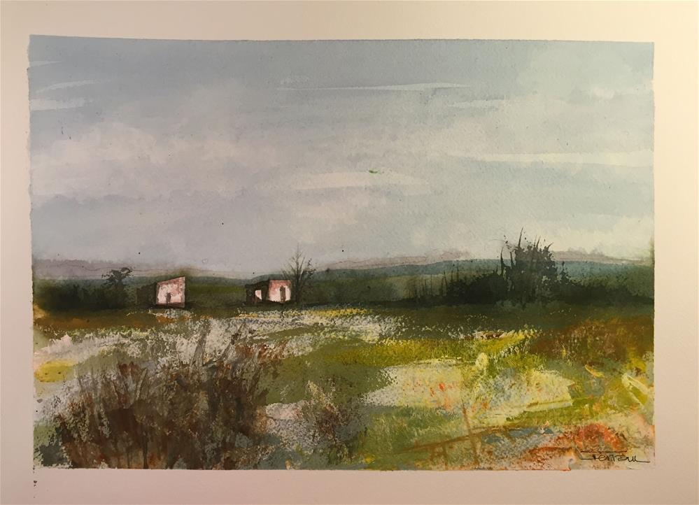 """RURAL LANDSCAPE, YELLOW FIELD"" original fine art by Ferran Llagostera"