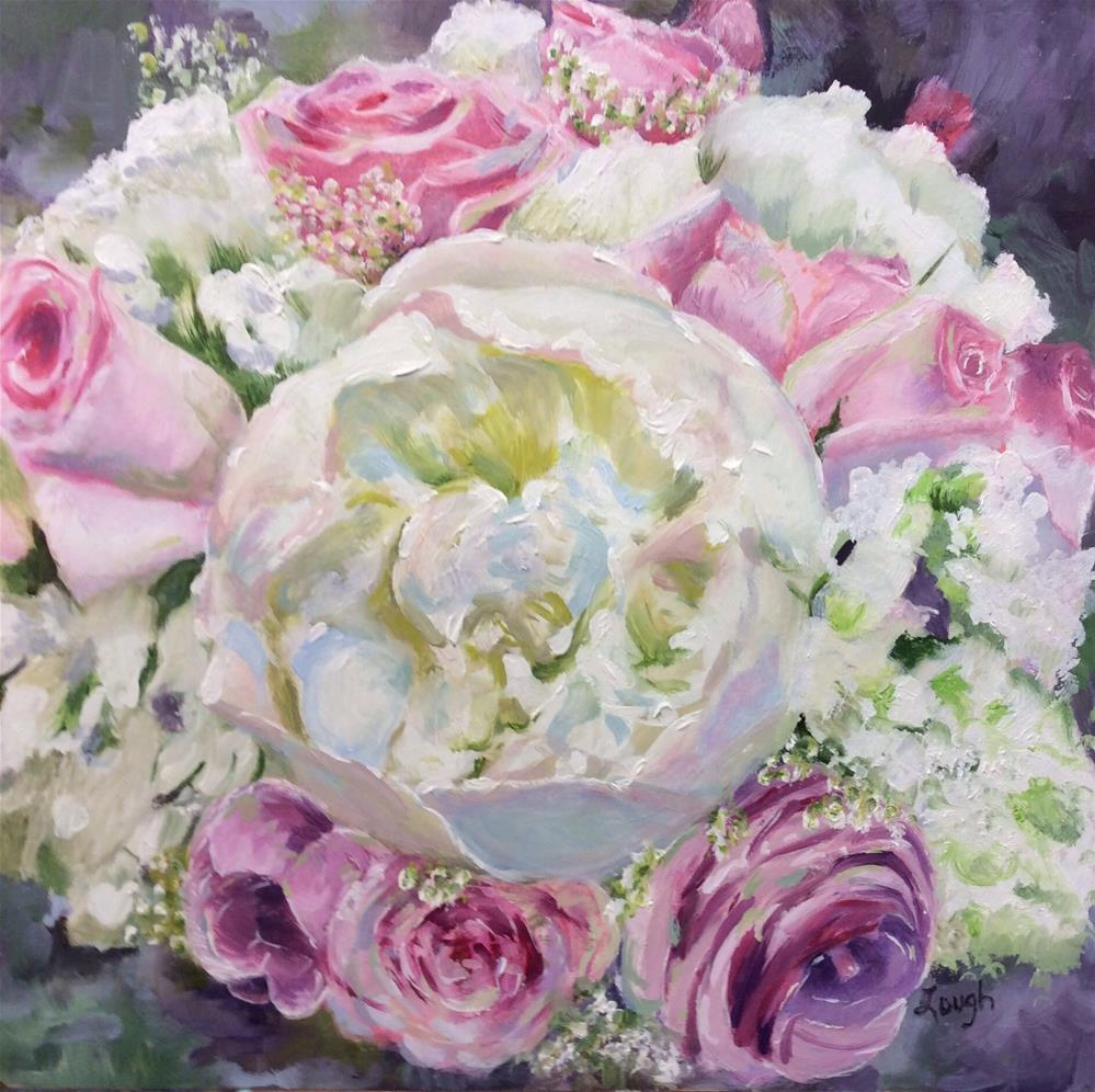 """Wedding Bouquet"" original fine art by Charlotte Lough"