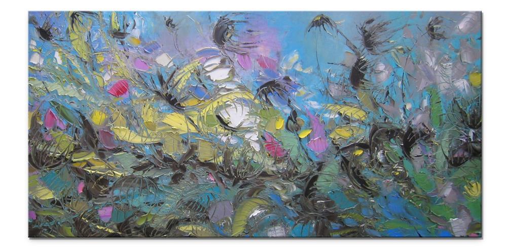 """Blooming burdock"" original fine art by Elena Lunetskaya"
