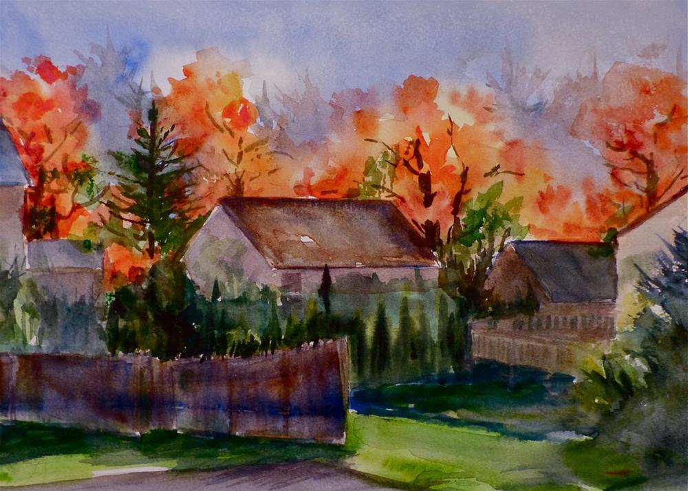 """New England Foliage"" original fine art by Judith Freeman Clark"