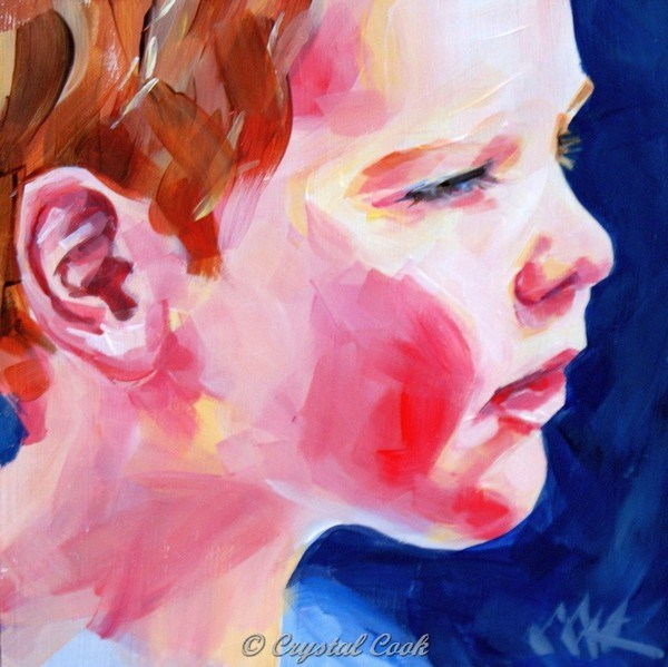"""Rosy Cheeks"" original fine art by Crystal  Cook"