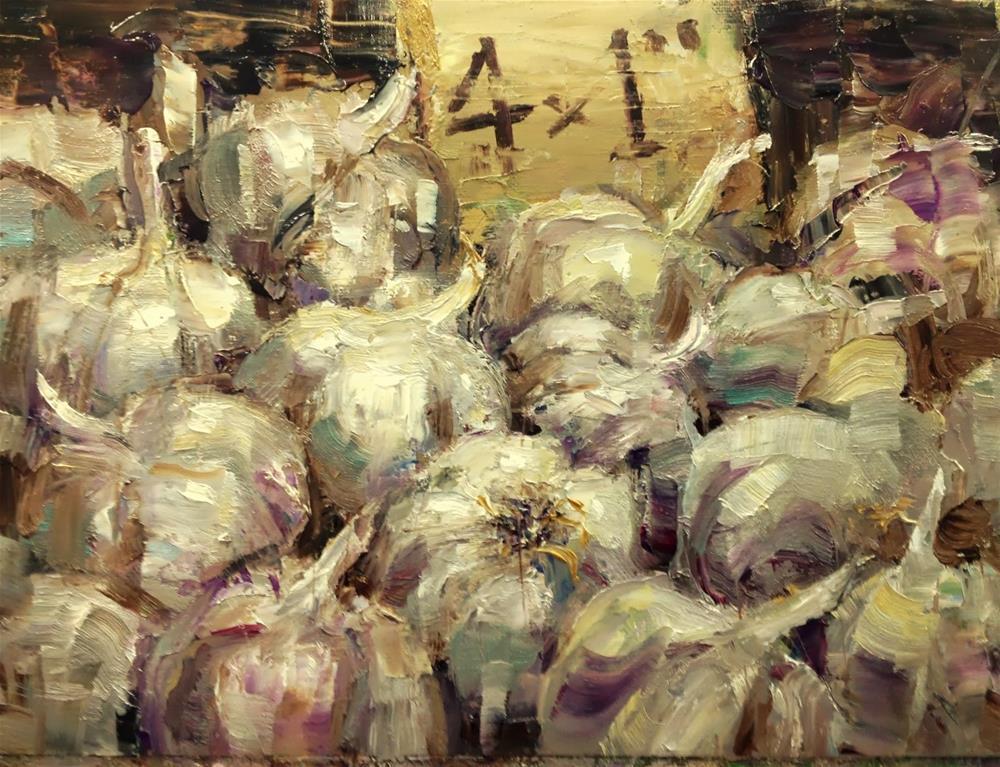 """""""Farmers market #11"""" original fine art by Julie Ford Oliver"""
