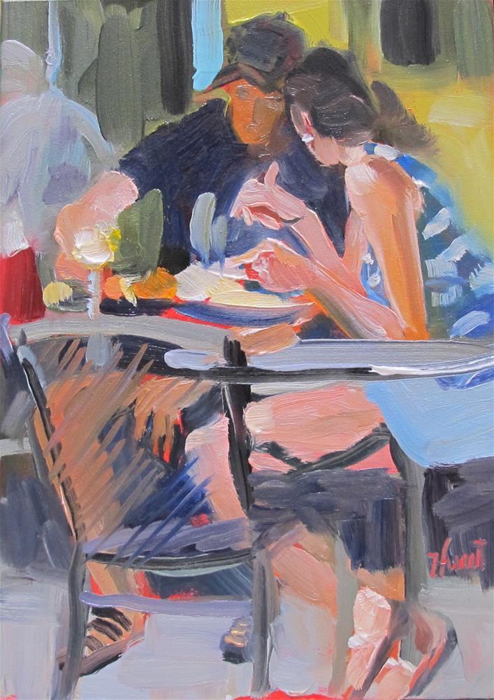 """""""Brunch"""" original fine art by Linda Hunt"""