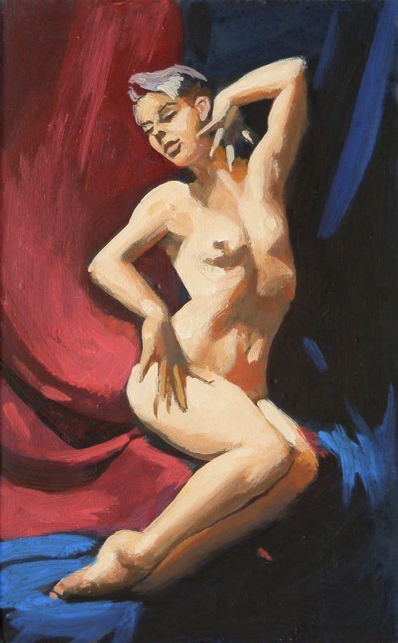 """Pose"" original fine art by Peter Orrock"