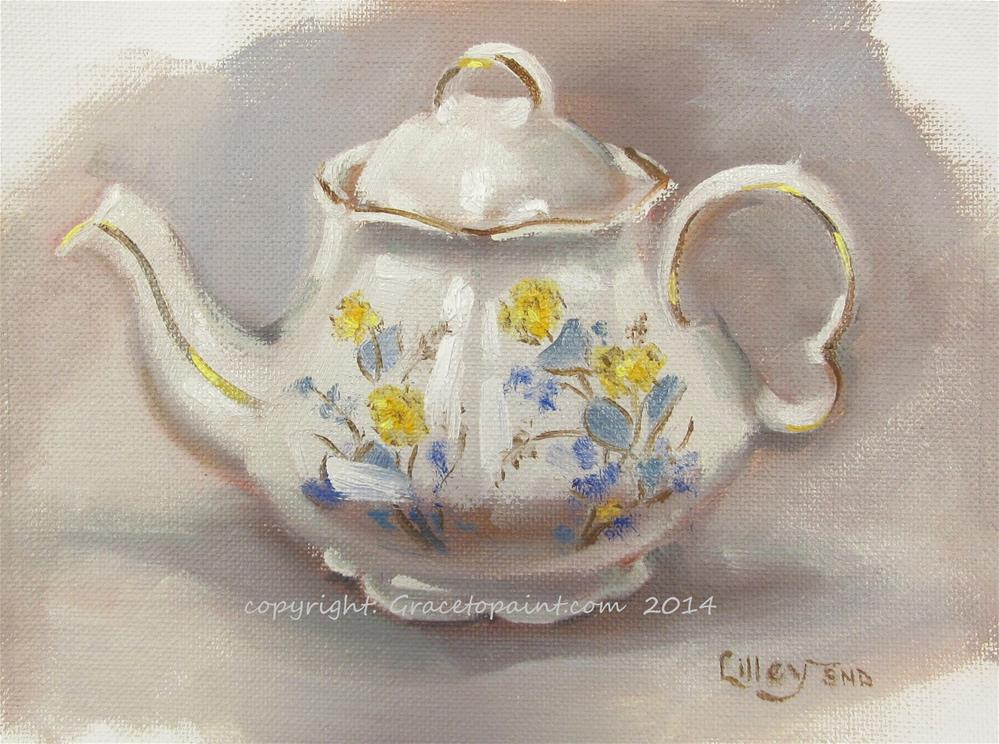 """Marie's Teapot"" original fine art by Maresa Lilley"