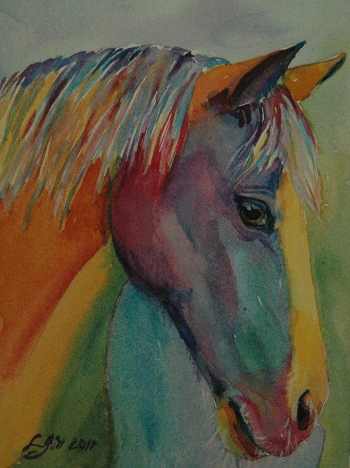 """""""Paint Pony 33 - Pixie Pony"""" original fine art by Lyn Gill"""