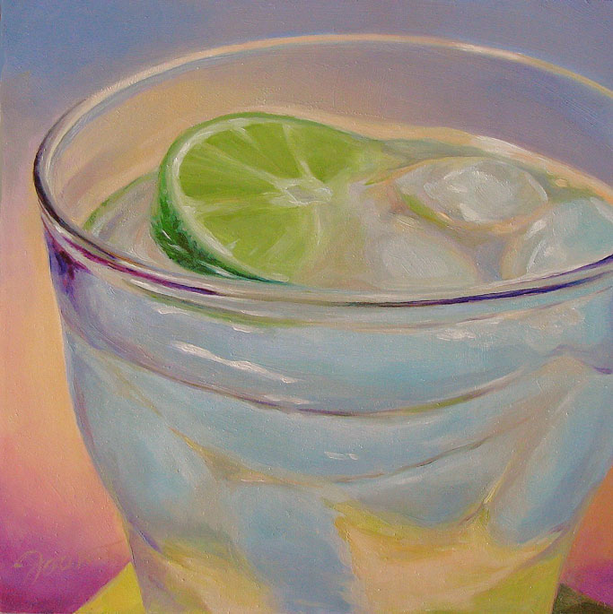 """Ice Water With Lime"" original fine art by Joanna Bingham"