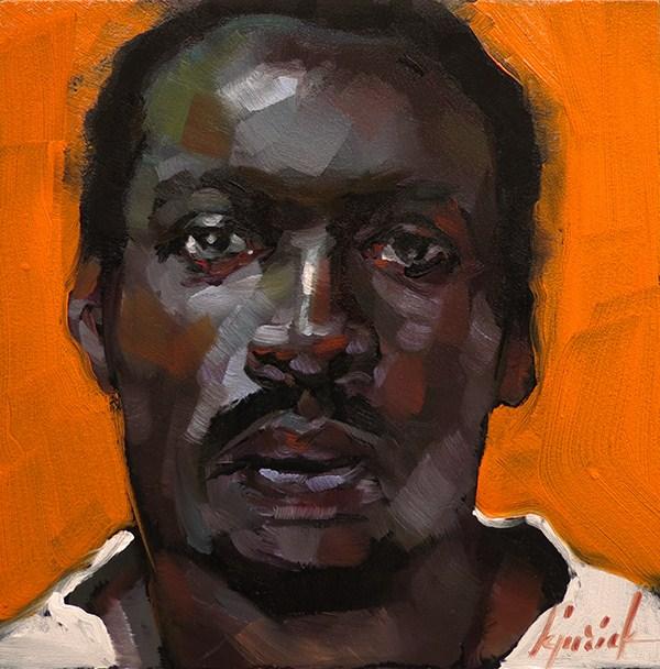 """100+ Faces, No. 112"" original fine art by Karin Jurick"