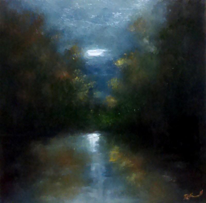 """The Calm River"" original fine art by Bob Kimball"