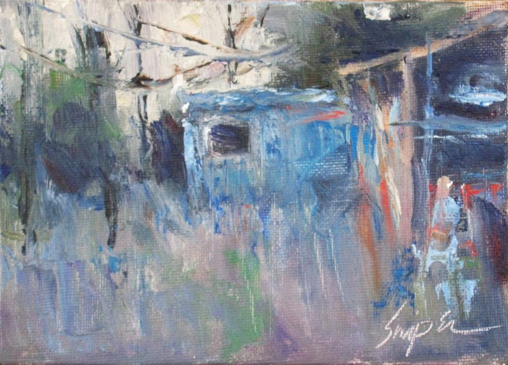 """Wires, Gastonia, NC"" original fine art by Connie Snipes"