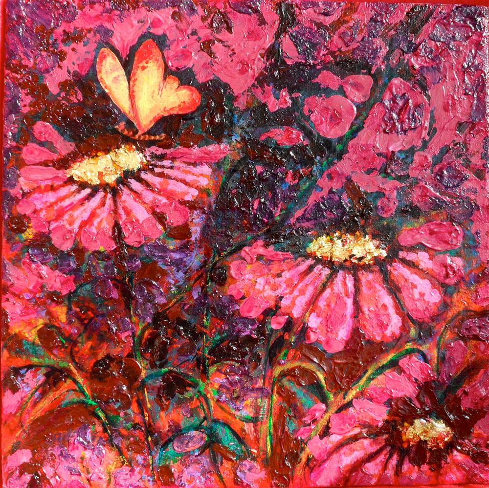 """Pinkadilly"" original fine art by Karen Roncari"