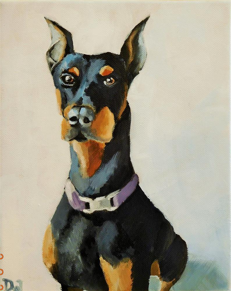 """Doberman"" original fine art by Daryl West"