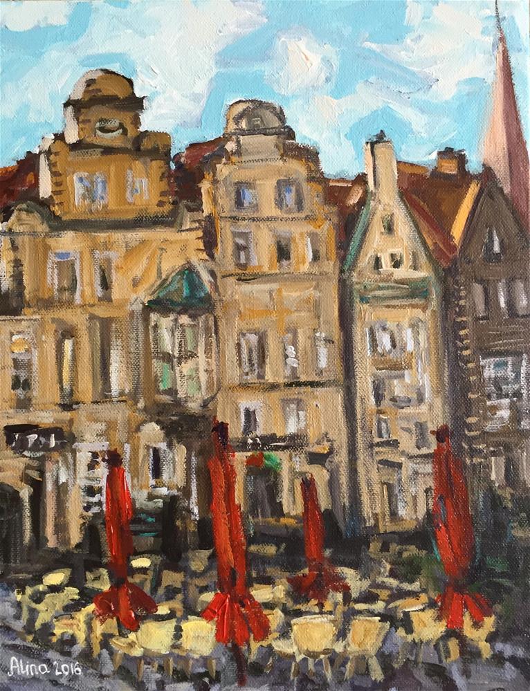 """""""Bremen Street View"""" original fine art by Alina Vidulescu"""