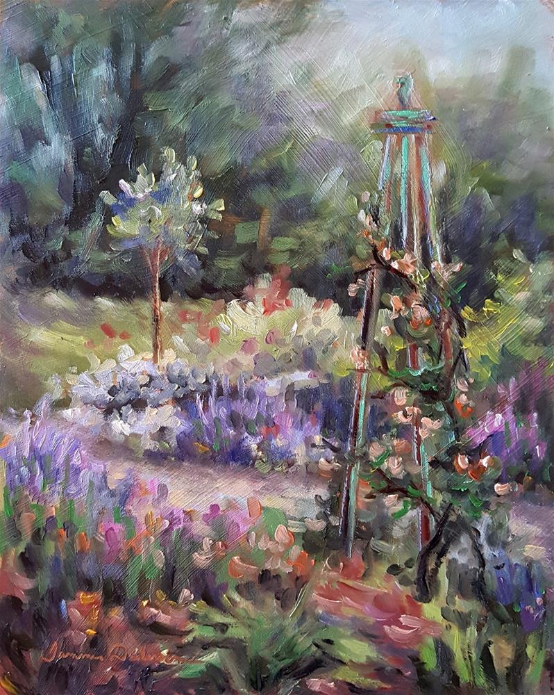 """Lavender and Roses"" original fine art by Tammie Dickerson"