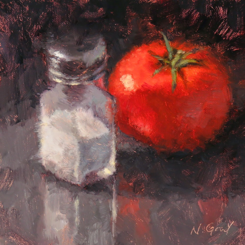 """Salt for Tomato"" original fine art by Naomi Gray"