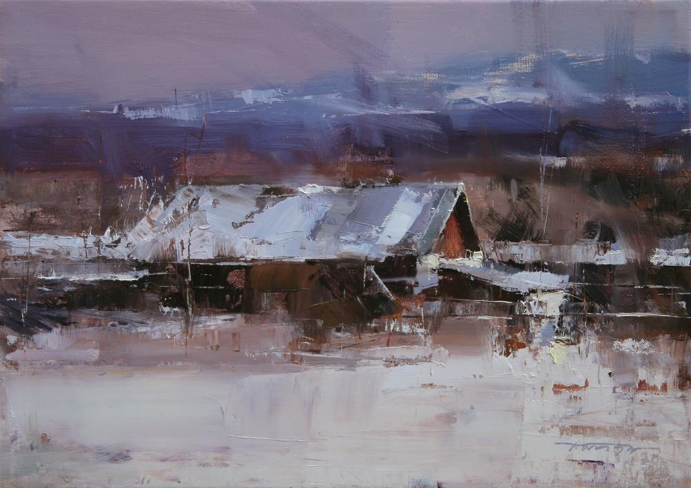 """Highland"" original fine art by Tibor Nagy"