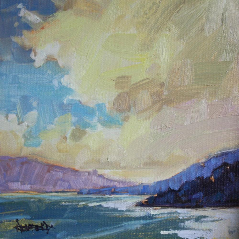 """Clouds and Sun in the Gorge"" original fine art by Cathleen Rehfeld"